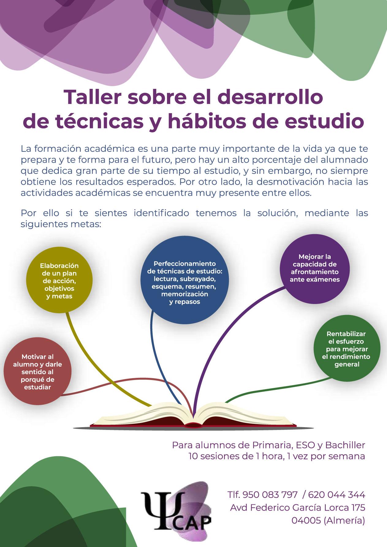 Taller hábitos de estudio en Almería